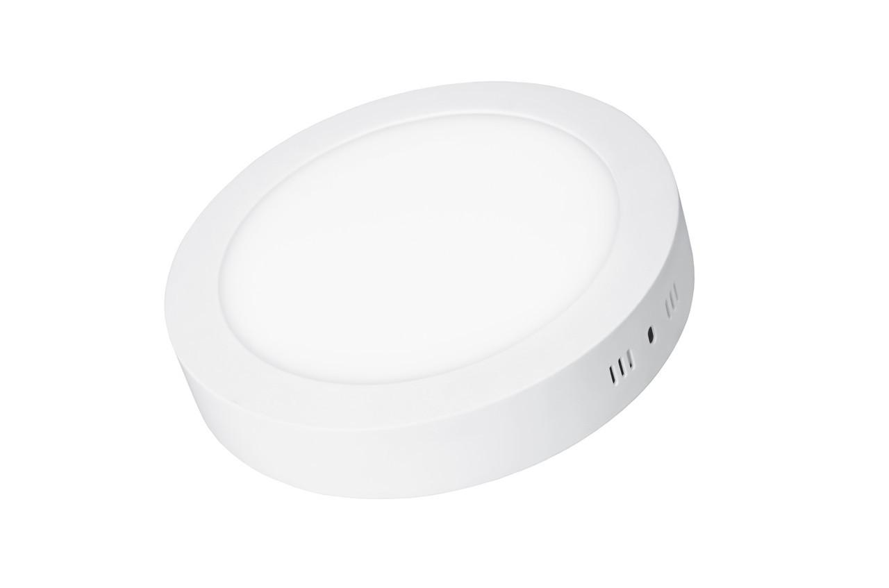 LED Светильник EUROLAMP круглый накладной Downlight 18W 4000K