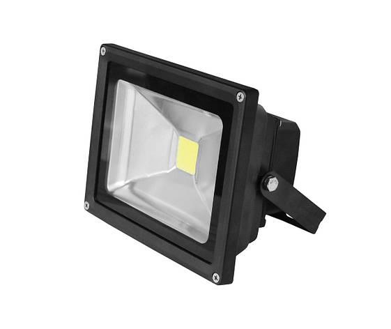 LED Прожектор EUROELECTRIC COB черный 30W 6500K classic, фото 2