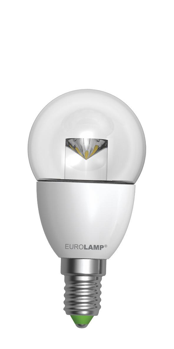 LED Лампа EUROLAMP EKO G45 прозрачная 5W E14 3000K