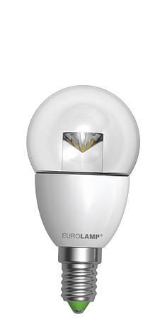 LED Лампа EUROLAMP EKO G45 прозрачная 5W E14 3000K, фото 2