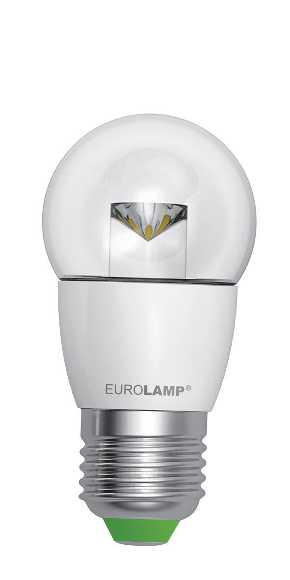 LED Лампа EUROLAMP EKO G45 прозрачная 5W E27 3000K