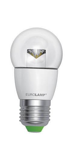 LED Лампа EUROLAMP EKO G45 прозрачная 5W E27 3000K, фото 2