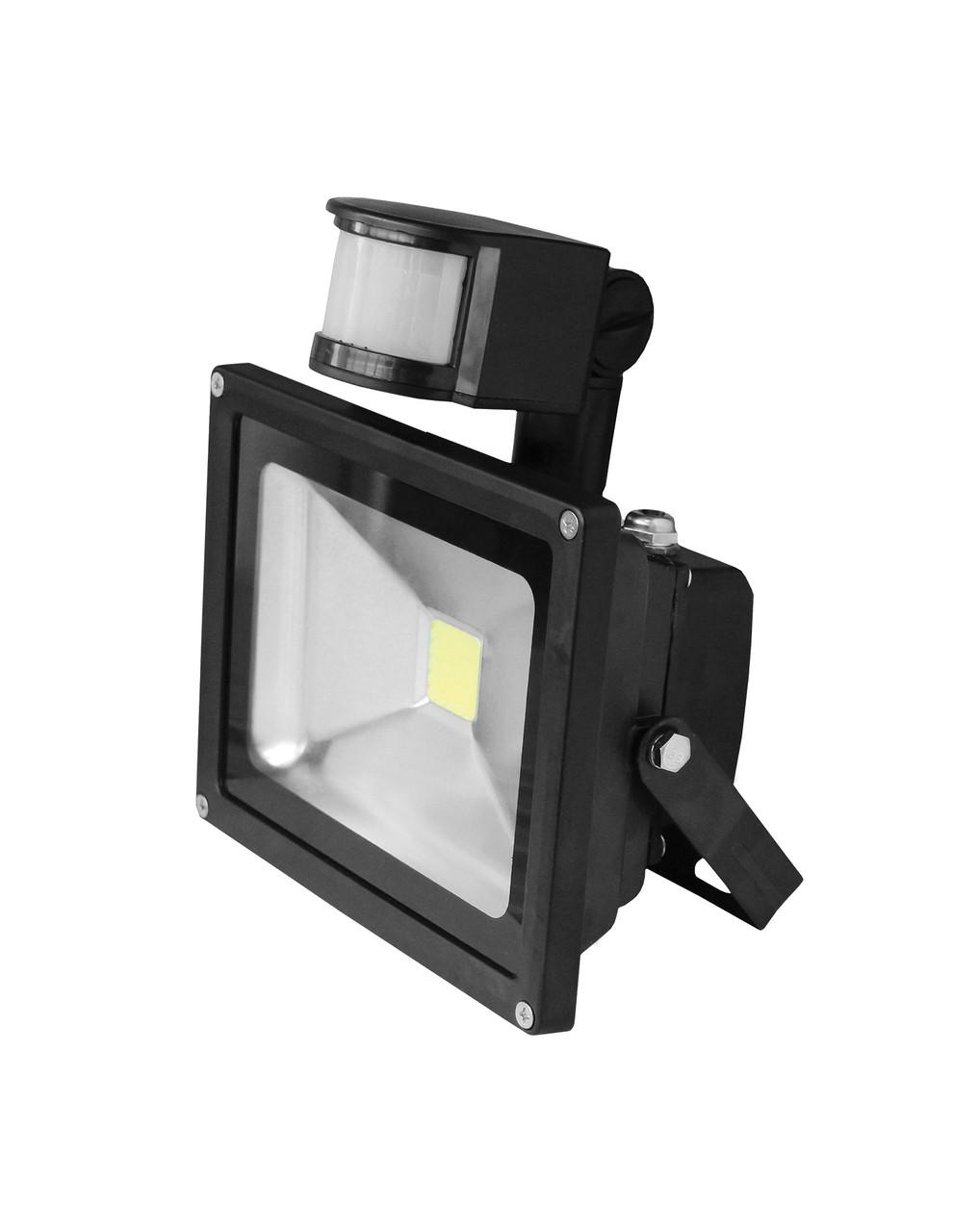 LED Прожектор EUROELECTRIC COB с датчиком движения 10W 6500K