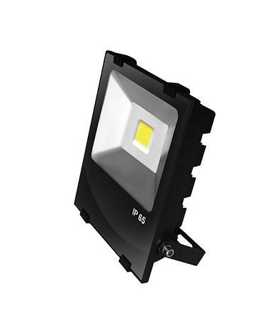 LED Прожектор EUROELECTRIC COB черный с радиатором 50W 6500K modern, фото 2