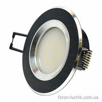 Світильник точковий (алюміній) AS21 BLAL чорний, фото 1