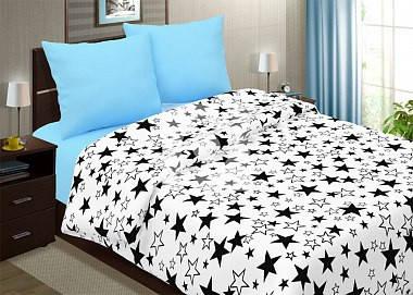 Постельное белье Звезды с голубым поплин ТМ Царский дом  (Семейный), фото 2