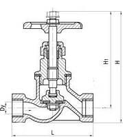 Клапан  запорный проходной муфтовый 15кч8