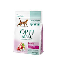 Сухой корм для кошек с чувствительным пищеварением OPTIMEAL - ягненок, 0,3 кг
