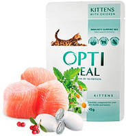 Консервированный корм для котят OPTIMEAL - с курицей, 85 гр