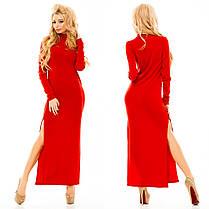 Ж161 Платье теплое длинное, фото 2