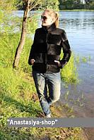 """Курточка из стриженной нутрии """"Роя"""", длина 65 см"""