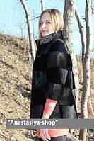 """Курточка из стриженной нутрии """"Нео"""",рукав 3/4, длина 65 см"""