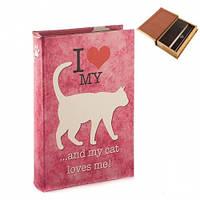 "Книга-сейф ""Кошка"" 26х17х5 см (шкатулка с ключом)"