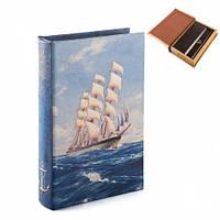 """Книга-сейф """"Навстречу открытиям"""" 26х17х5 см сувениры в морском стиле"""