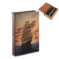 "Красивая книга-сейф ""Неизведанные моря"" 26х17х5 см (шкатулка с ключом)"