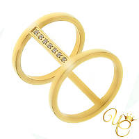 Кольцо женское из стали «Ясное XIV»