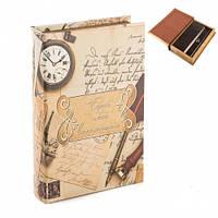 "Красивая книга-сейф ""Письма"" 26х17х5 см (шкатулка с ключом)"