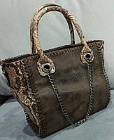 Женская сумка шоколадного цвета Stella McCartn... Материал эко замш. Размер 23х22.
