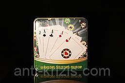Набор для покера на 120 фишек в метталической упаковке+колода карт