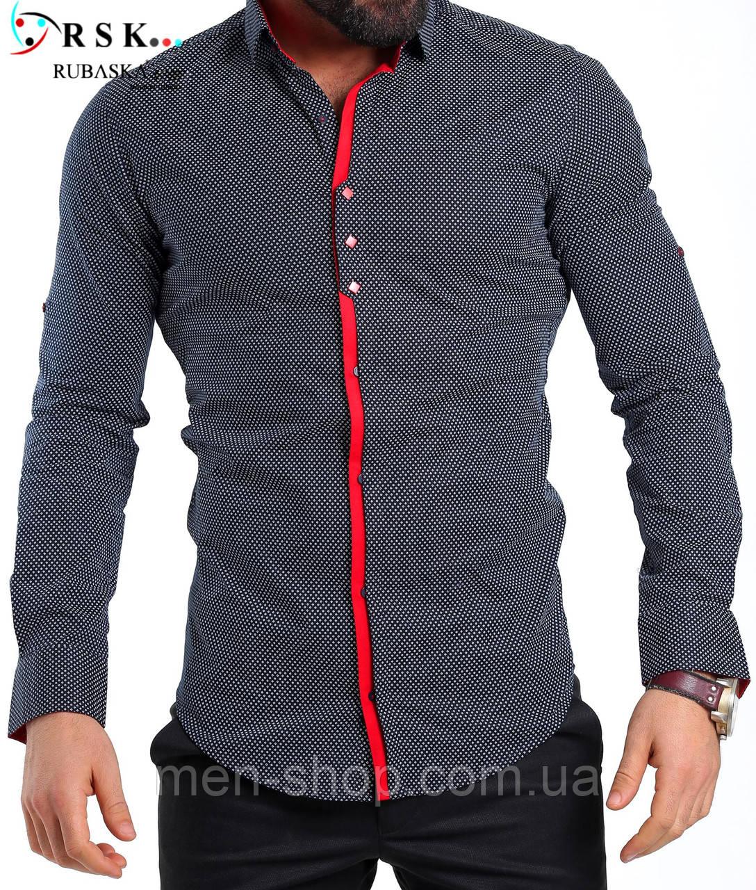 Качественная черная мужская рубашка