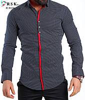 Качественная черная мужская рубашка, фото 1