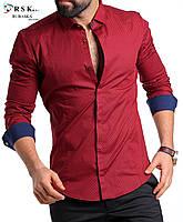 Качественная красная мужская рубашка, фото 1