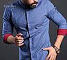 Качественная голубая мужская рубашка