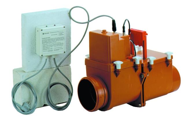Механический магистральный канализационный затвор Hutterer & Lechner DN160 с электроприводной заслонкой HL715.2EPC