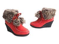 Зимние ботинки на танкетке 36-41