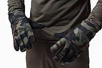 Перчатки флисовые теплые тройные комуфляж, фото 1