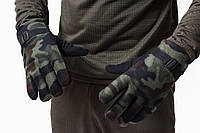Перчатки флисовые теплые тройные комуфляж