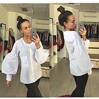 Блуза женская очень красивая, ткань коттон ,цвет белый фото реал ,супер качество ст № 6955
