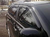 Дефлекторы боковых окон Chevrolet Aveo (Шевроле Авео) Хэтчбек (2012-) (темный) (4 части)