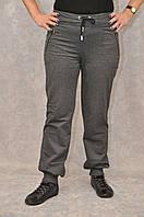 Женские штаны из трикотажа двух нитка на манжете