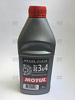 Тормозная жидкость DOT3&4 BRAKE FLUID Motul 1л