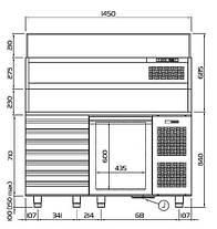 Холодильный стол для пиццы Coldline EN 1D+7, фото 2