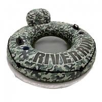 Круг-кресло надувное для плавания Intex 58835 Camo River Run I (диаметр 135 см)