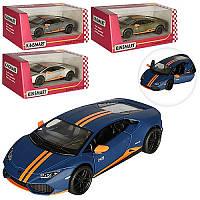 Машинка  KT 5401 W, инерция, металл, 12,5 см, открываются двери, 4 цвета, колеса резина, подарок юному гонщику