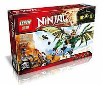 Конструктор, типа Лего, Ninja Зеленый дракон (06036)