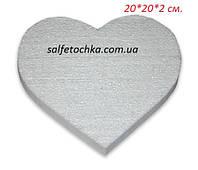 "Пенопластовая форма ""Сердце"" (20 см.)"