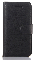 Кожаный чехол-книжка для Lenovo Vibe k5, Vibe k5 plus, A6020 черный