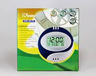 Часы для дома Kenko KK-6870, будильник, календарь, таймер, секундомер, красивый дизайн