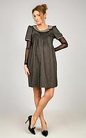 Платье  для беременных, с воротником