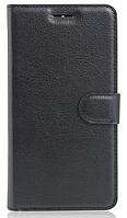 Кожаный чехол-книжка для Lenovo Vibe k5 note, A7020 черный