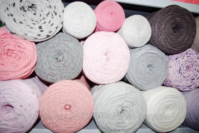 Поступление трикотажной пряжи в бобинах для ковров и сумок