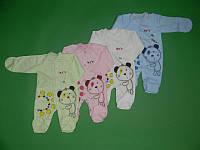 Человечек для малыша новорожденного человечек для мальчика девочки с мишкой