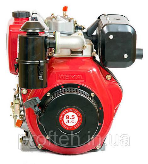 Двигатель дизельный WEIMA WM186FВ (9,5 л.с., шлицы Ø25мм, L=33мм, ручной старт)