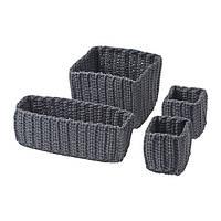 NORDRANA Набор корзин,4 штуки, серый