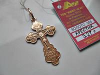 Крестик ЗОЛОТО 585 пробы  3.27 грамма Распятие Христа, фото 1