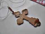 Крестик ЗОЛОТО 585 пробы  3.27 грамма Распятие Христа, фото 8